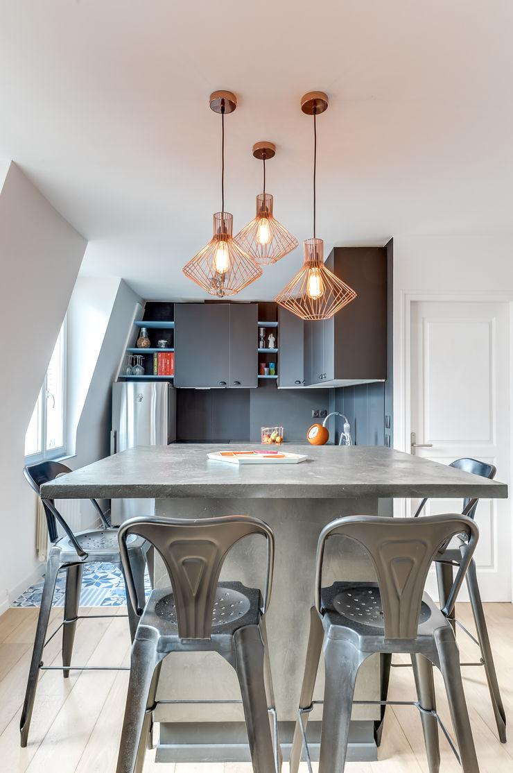 CUISINE PROJET COLOMBES, Agence Transition Interior Design, Architectes: Carla Lopez et Margaux Meza Transition Interior Design Cuisine moderne