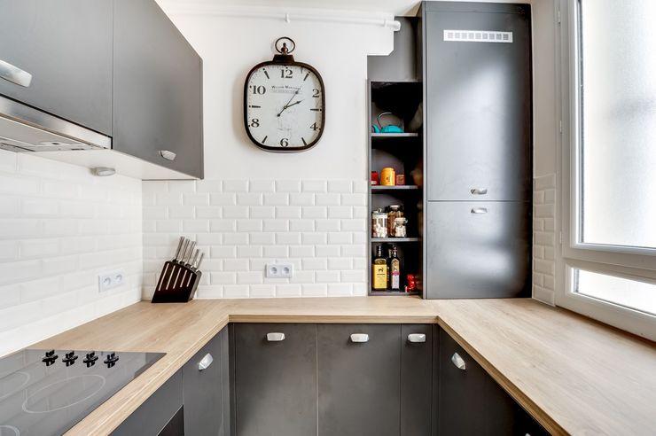 Une petite cuisine sur-mesure à Paris CuisiShop Cuisine moderne