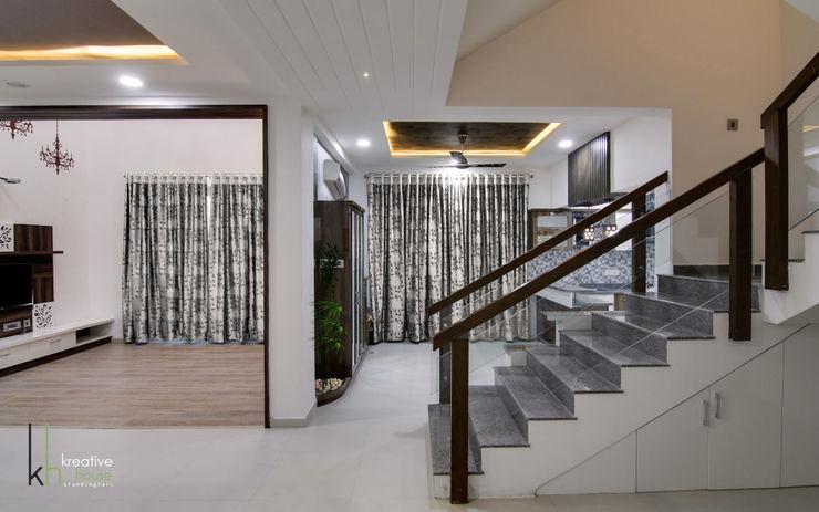 Ground Floor Lounge KREATIVE HOUSE Modern Living Room Tiles White