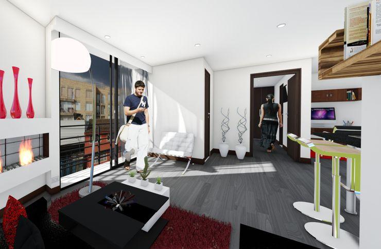OGGETTO ARQUITECTOS Moderne Wohnzimmer