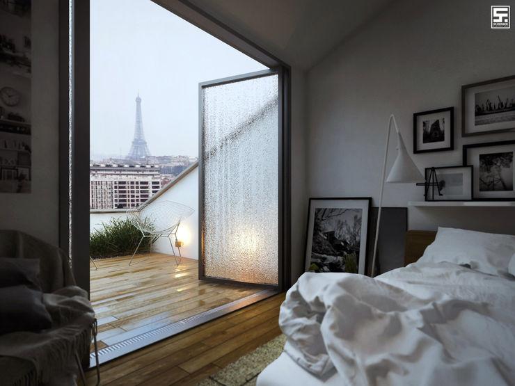 homify Minimalist bedroom Wood White