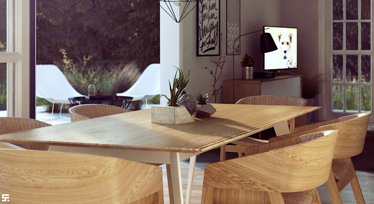 homify Scandinavian style dining room Wood Wood effect