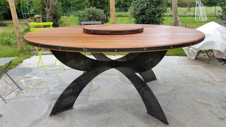 tavolo artistico ironwood Ironwoood Giardino in stile industriale