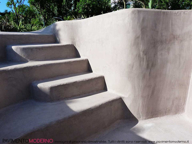Rivestimento piscina in cemento armato tortora Pavimento Moderno Piscine a laghetto Cemento Beige