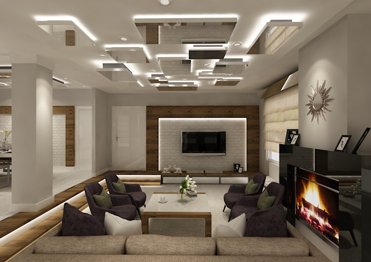 PRATIKIZ MIMARLIK/ ARCHITECTURE Living roomTV stands & cabinets