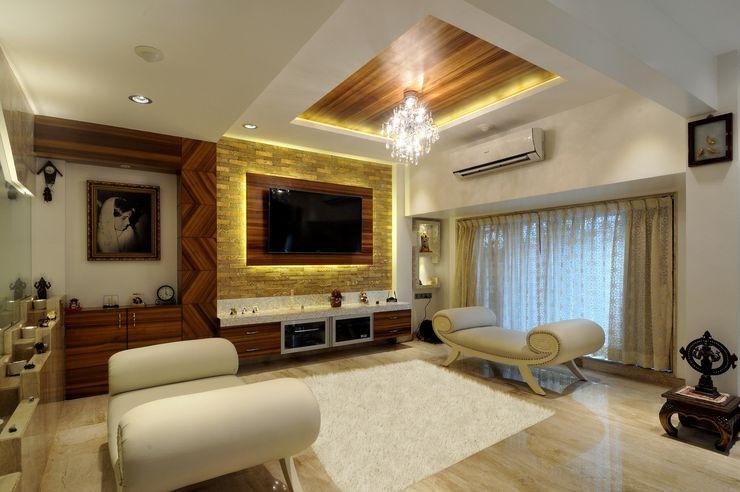 Private Residence at Mumbai ARK Reza Kabul Architects Pvt. Ltd. Rustic style living room