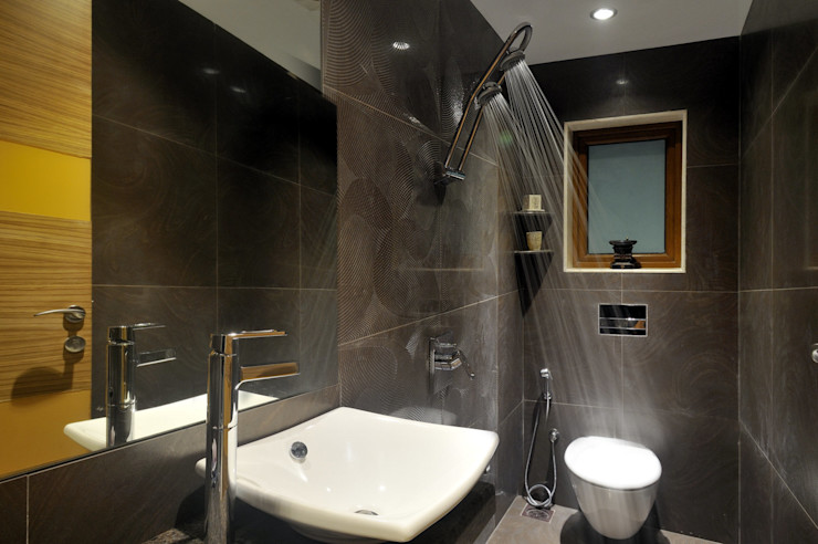 Private Residence at Mumbai ARK Reza Kabul Architects Pvt. Ltd. Rustic style bathroom