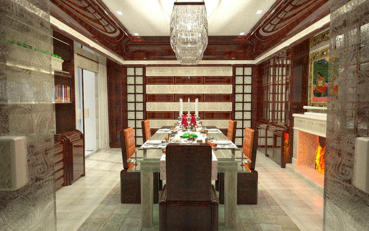 Residenza Nigeria - Partnership Stefano Ricci Luca Dini Design Sala da pranzo in stile classico