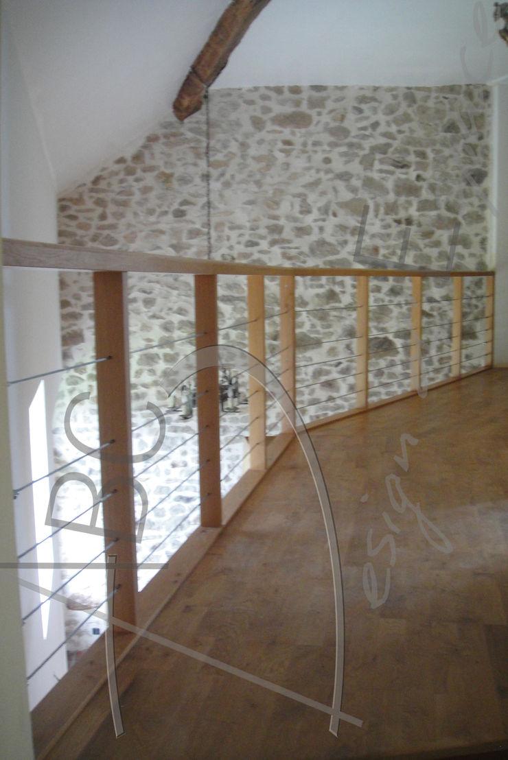 ABC Design d'Espace Rustykalny korytarz, przedpokój i schody
