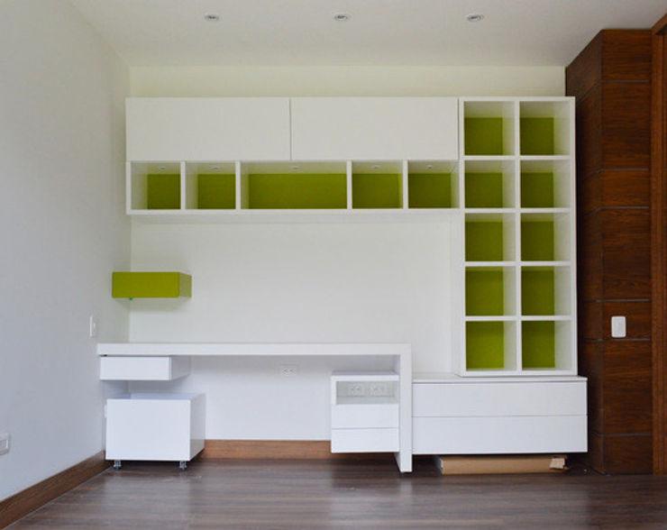 ACABADOS ARQUITECTONICOS - CASA MAGUEY SINC Cuartos de estilo moderno Verde