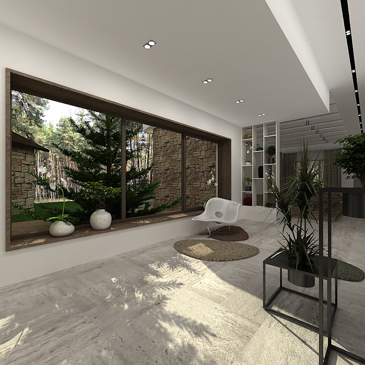 A-partmentdesign studio Salas de estilo minimalista Tablero DM Blanco