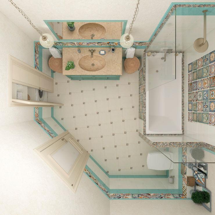 """Ванная комната """"Acquamarina"""" Студия дизайна Дарьи Одарюк Ванная в средиземноморском стиле Многоцветный"""