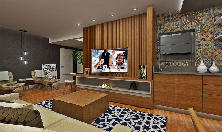 Atelier Par Deux Eclectic style living room Wood Wood effect