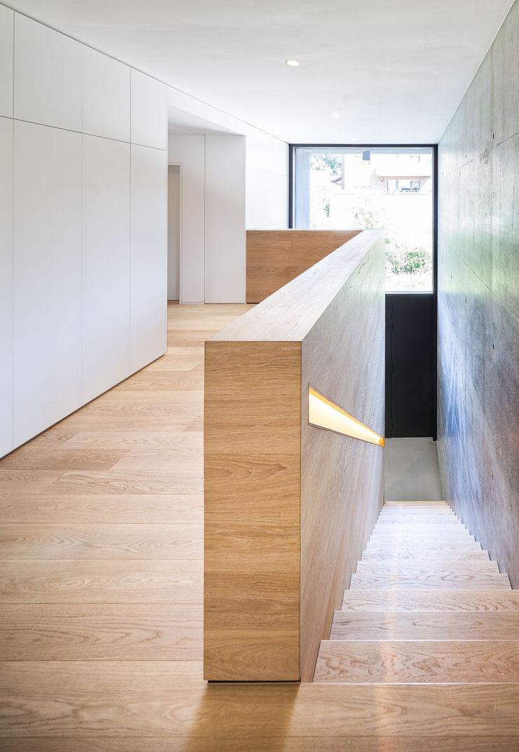 Haus H ZHAC / Zweering Helmus Architektur+Consulting Moderner Flur, Diele & Treppenhaus Holz Mehrfarbig