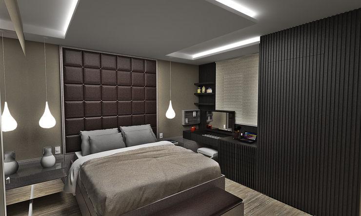 Atelier Par Deux Eclectic style bedroom MDF Brown