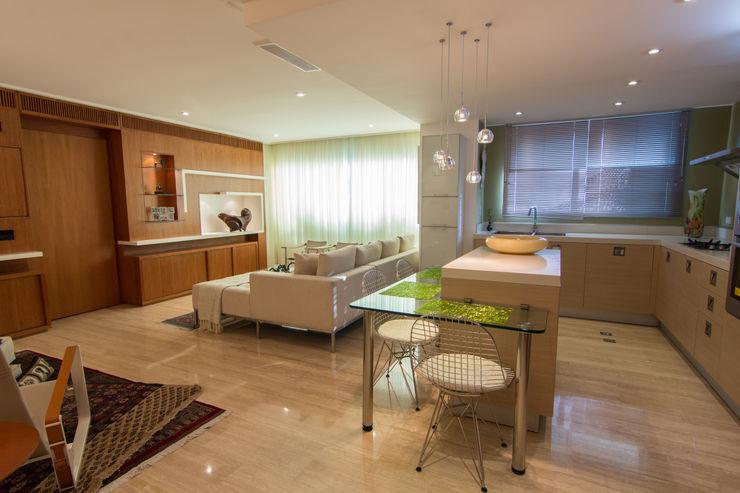 Apartamento B24 TRIBU ESTUDIO CREATIVO Salas de estilo moderno