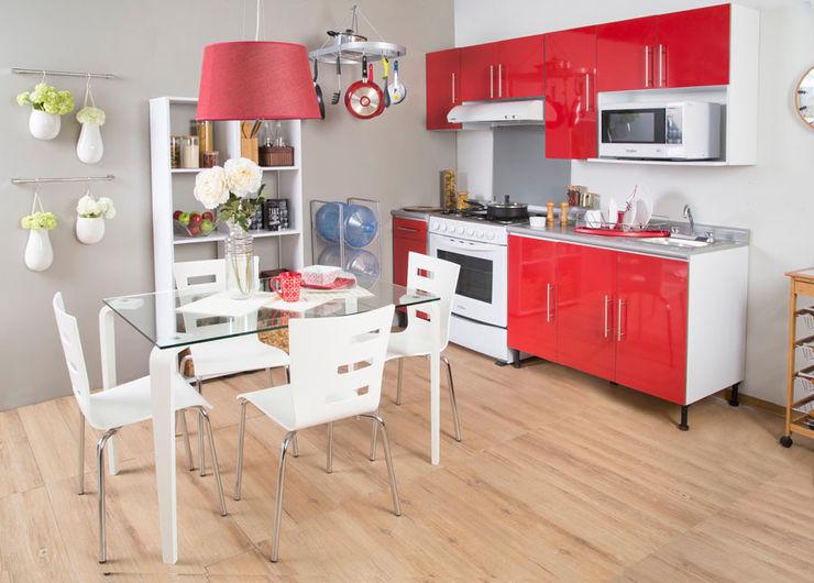 Cocina vanguardista Idea Interior CocinaArmarios y estanterías Aluminio/Cinc Rojo