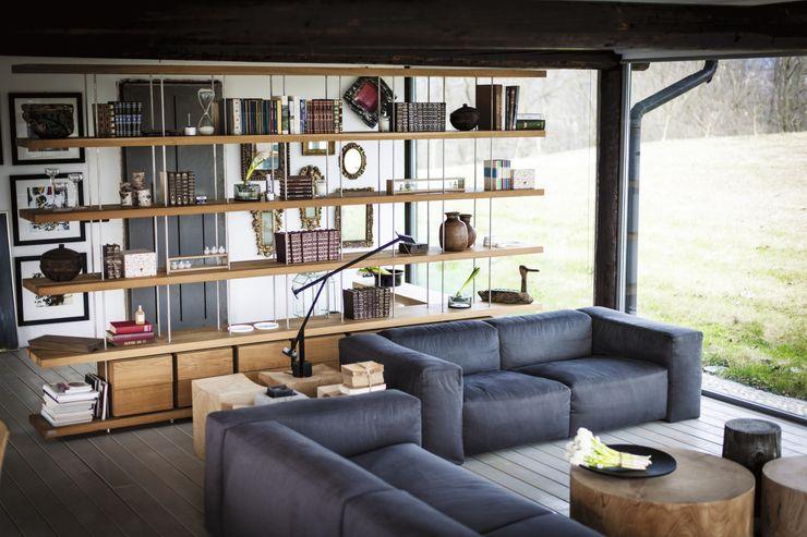 PIANO DESIGN design Matteo e Renzo Piano Riva1920 Soggiorno moderno Legno