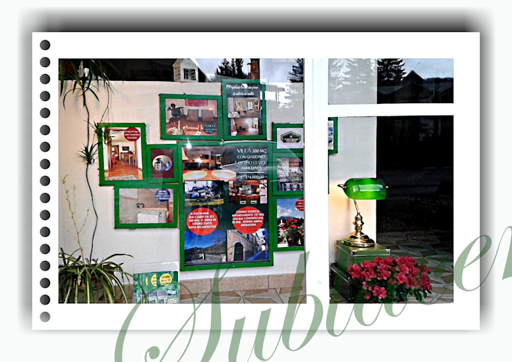immobiliare sublacense Eclectic style offices & stores Green