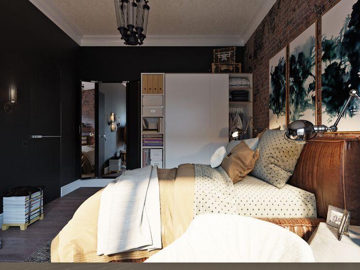 Дизайн-мастерская 'GENESIS' Industrial style bedroom