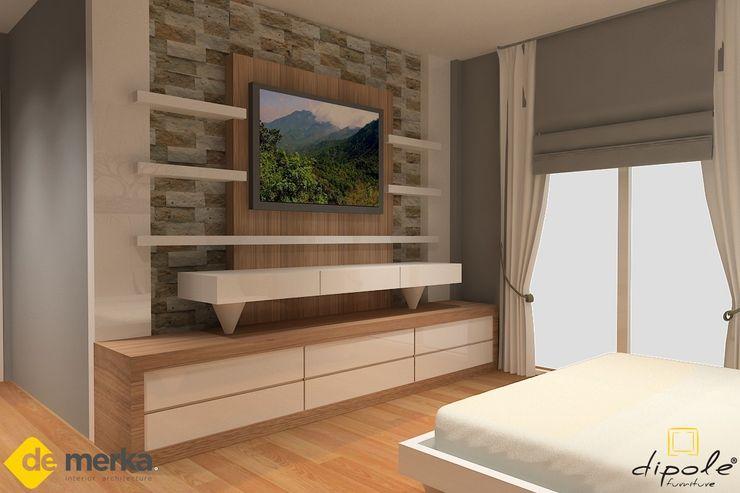 DE MERKA MİMARLIK MÜH.MİM.DAN.HİZ.İNŞ.SAN.TİC.LTD.ŞTİ. Living roomTV stands & cabinets