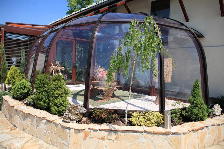 Gracja Modern conservatory Wood Brown