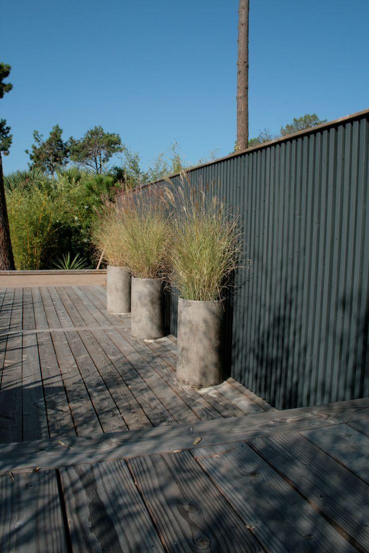 Inspirations Anthemis Bureau d'Etude Paysage Balcon, Veranda & Terrasse modernes
