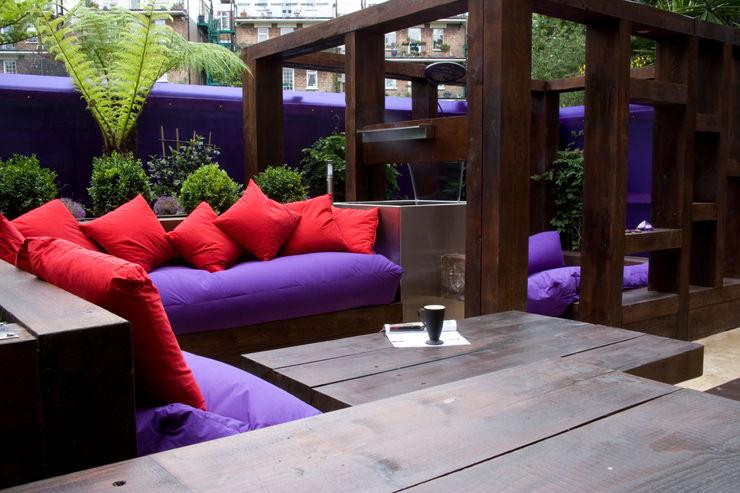 Contemporary Garden - North London Earth Designs Modern Garden Wood Purple/Violet