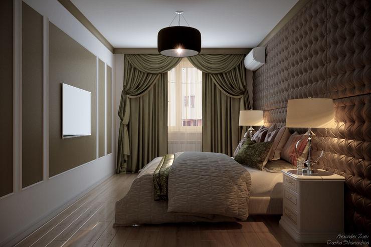 Студия интерьерного дизайна happy.design Kamar Tidur Gaya Eklektik