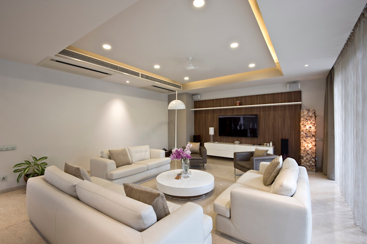 Chaney Architects Nowoczesny salon