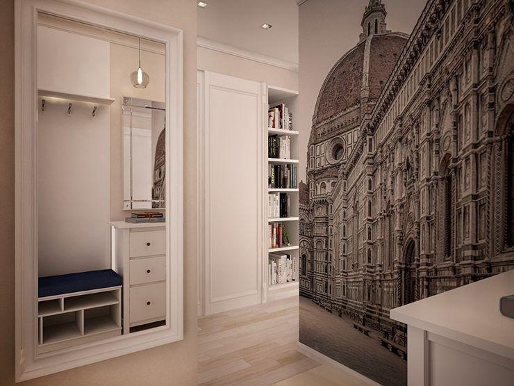 дизайн-бюро ARTTUNDRA Scandinavian style corridor, hallway& stairs White