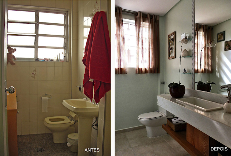 MBDesign Arquitetura & Interiores Modern style bathrooms