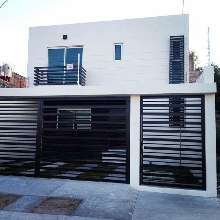 Grupo Arquitech Hiên, sân thượng phong cách tối giản Cục đá Blue