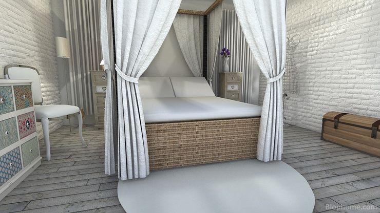 Apartamento ladrillos blancos MGC Diseño de Interiores DormitoriosDecoración y accesorios Bambú Blanco