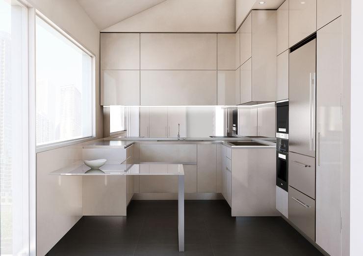 Render di interni Giuseppe Balestri Cucina moderna