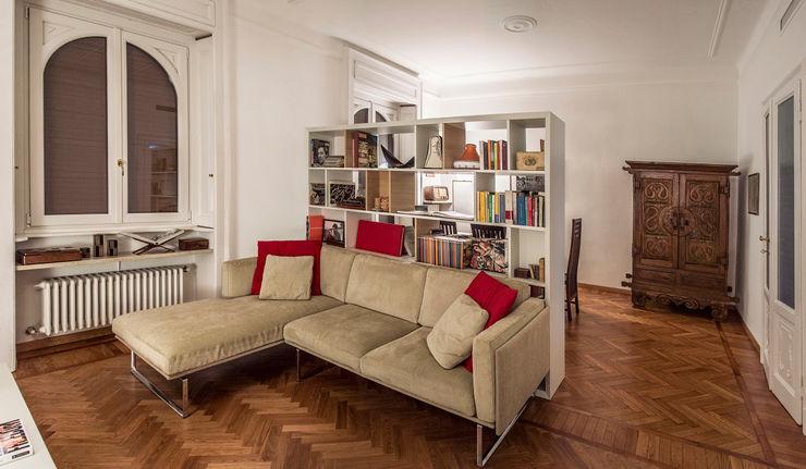 M N A - Matteo Negrin غرفة المعيشةأريكة ومقاعد إسترخاء