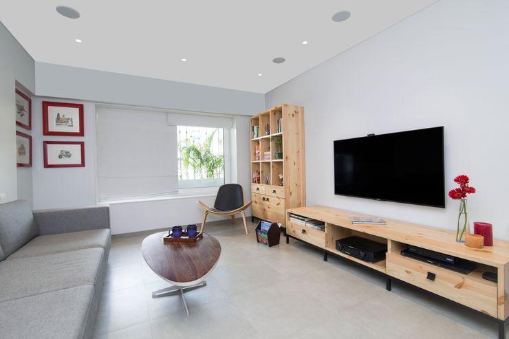 Nitido Interior design SalasMuebles de televisión y dispositivos electrónicos Azulejos Gris