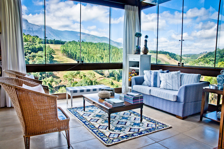 Carlos Eduardo de Lacerda Arquitetura e Planejamento Salas de estilo rural