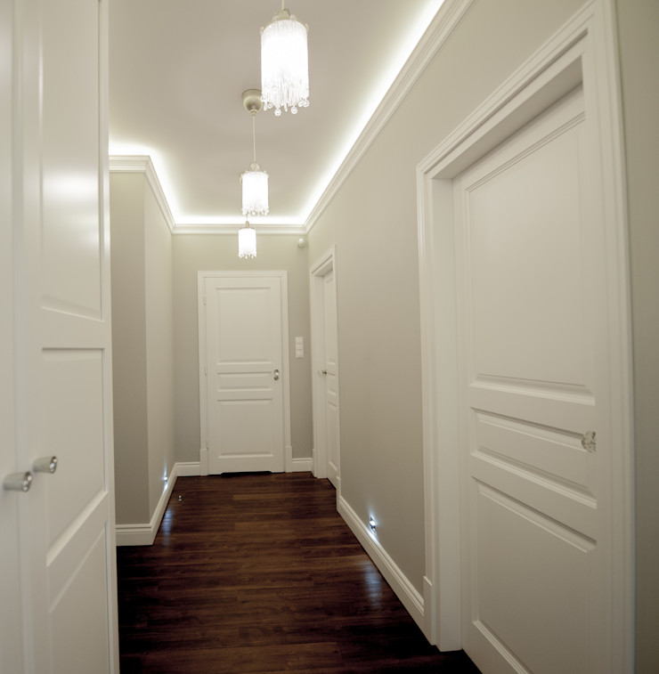 AgiDesign Classic style corridor, hallway and stairs Grey