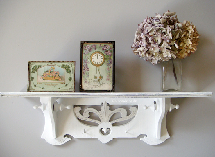 Maisondora Vintage Living BathroomShelves Wood White