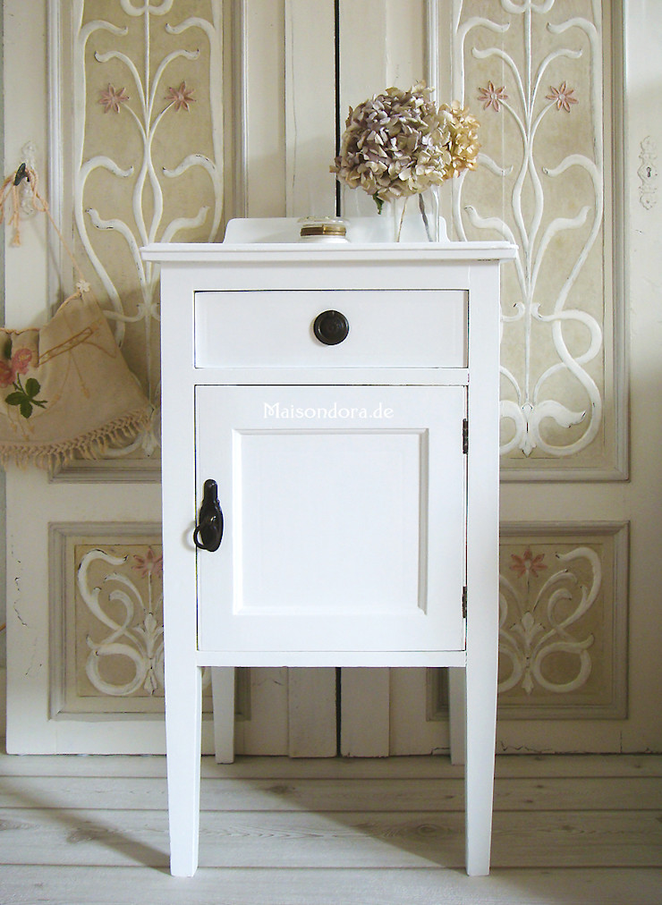 Maisondora Vintage Living BedroomBedside tables Wood White