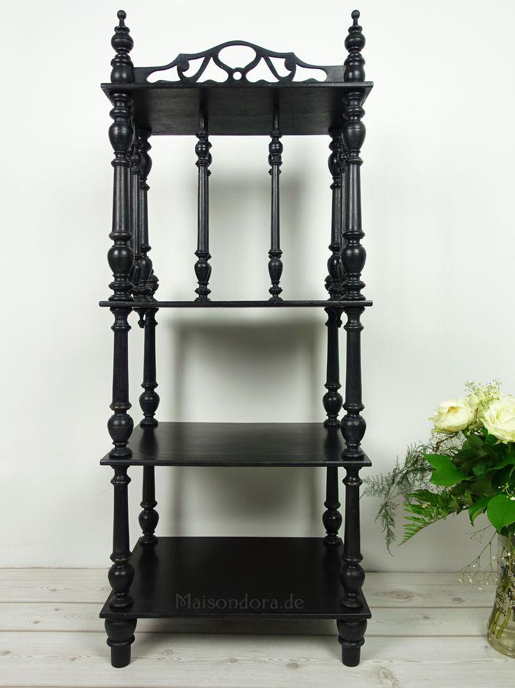 Maisondora Vintage Living Living roomShelves Wood Black