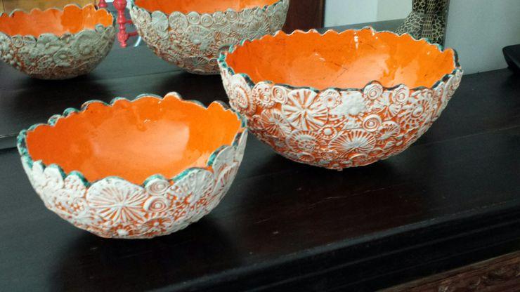 """Exposition """"Orange fusion"""" Anne Vachard - Céramiste ArtObjets d'art Céramique"""
