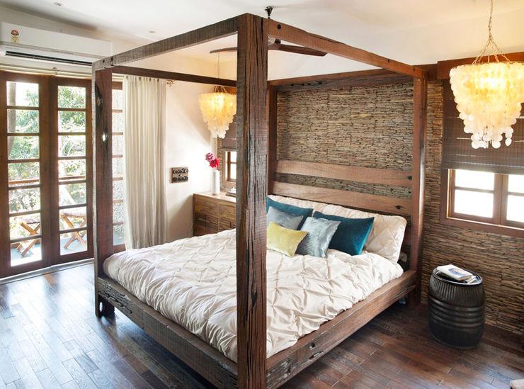 Nitido Interior design Rustic style bedroom Solid Wood Wood effect