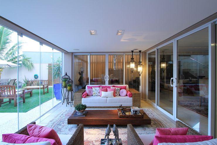 AD ARQUITETURA E DESIGN Балкон, веранда и террасаАксессуары и декор Натуральное волокно Розовый