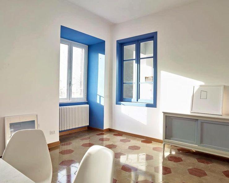 Impresa Costruzioni Interni Modern living room Blue