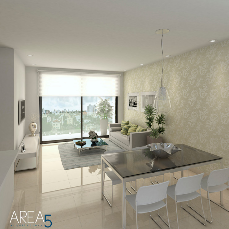 Sala-Comedor Area5 arquitectura SAS Salas modernas Beige