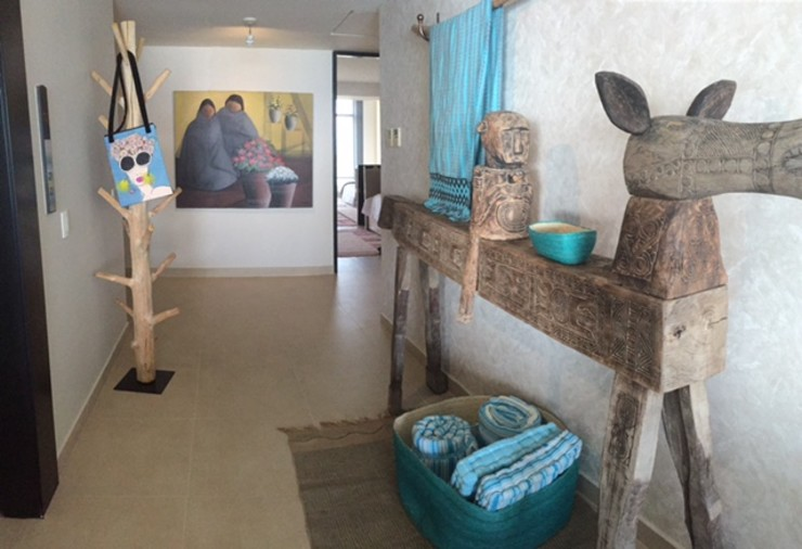 Condominio Tres Mares Marusa Albarrán interior Design Pasillos, vestíbulos y escaleras modernos