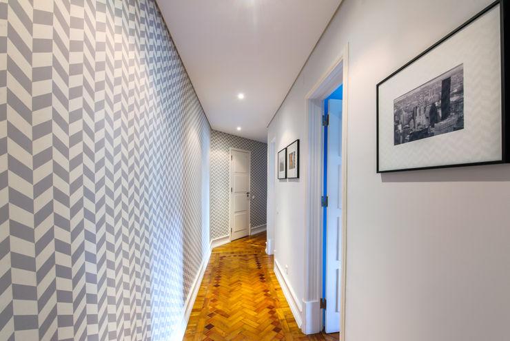 Espaço Mínimo Couloir, entrée, escaliers scandinaves