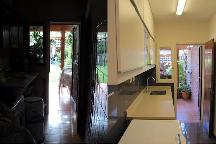 Una cocina con cambios Verde Urbano Arquitectura